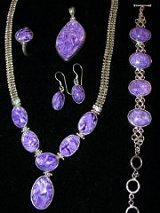 Sterling Siver Charoite Jewelry