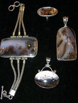 Sterling Siver Dendritic Agate Jewelry