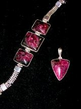 Sterling Siver Eudialyte Jewelry