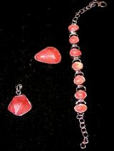 Sterling Siver Strawberry Quartz Jewelry